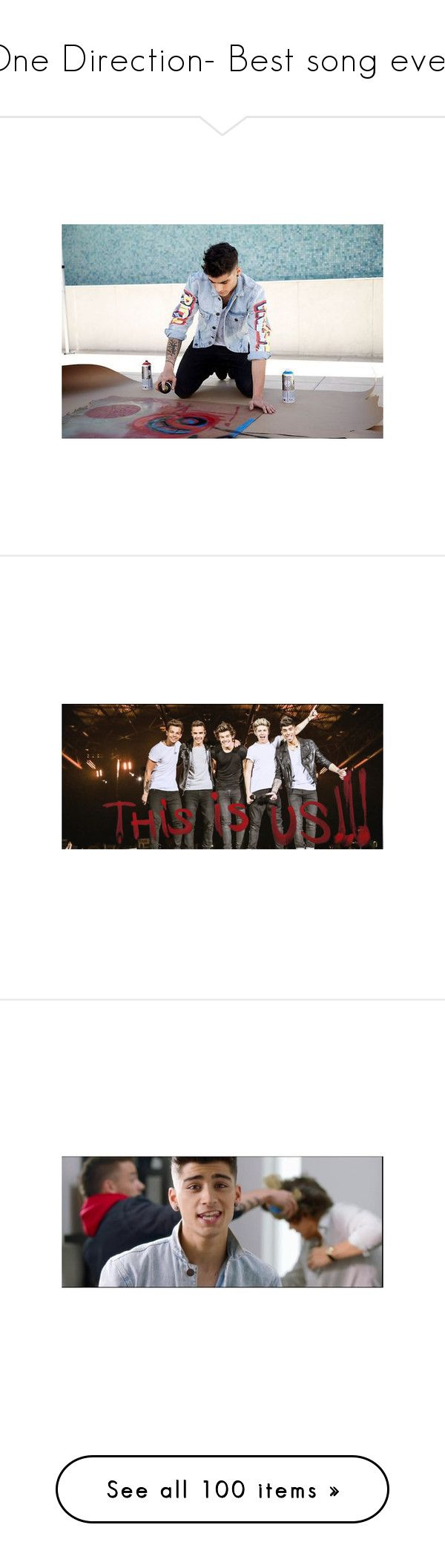 """One Direction- Best song ever."" by ma-sandbote ❤ liked on Polyvore featuring one direction, zayn malik, 1d, best song ever, zayn, images, marcel, harry, harry styles and bse"