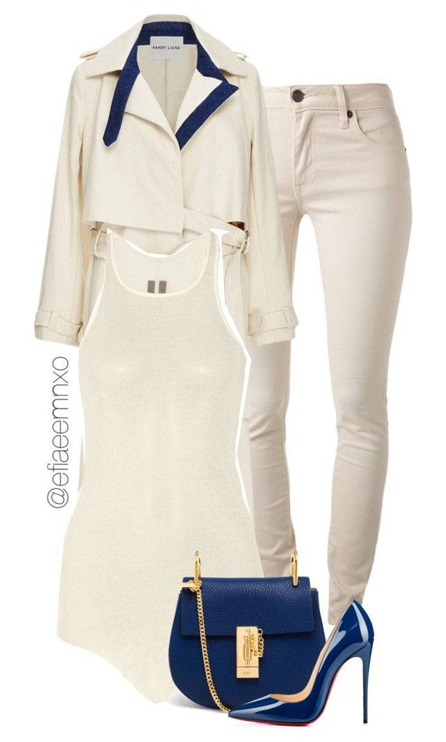 """Vanilla and blueberries"" by efiaeemnxo ❤ liked on Polyvore featuring Burberry, Sandy Liang, Rick Owens, Chloé, Christian Louboutin, christianlouboutin, RickOwens, chloe, sbemnxo and styledbyemnxo"