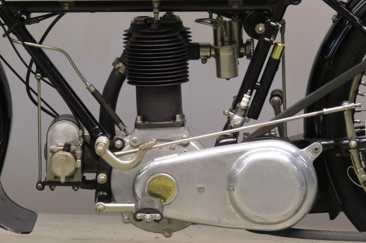 """Triumph 1920 549 cc Model H frame # 311191 motor # 71538HRX The model H is announced late in 1914 as a logical development of the famous veteran """" Trusty"""". But it isn't just a 1914 model with a countershaft gearbox: the engine differs from the veteran engine in various ways. It has a single ... Read moreTriumph 1920 Model H 550cc 1 cyl sv 2711"""