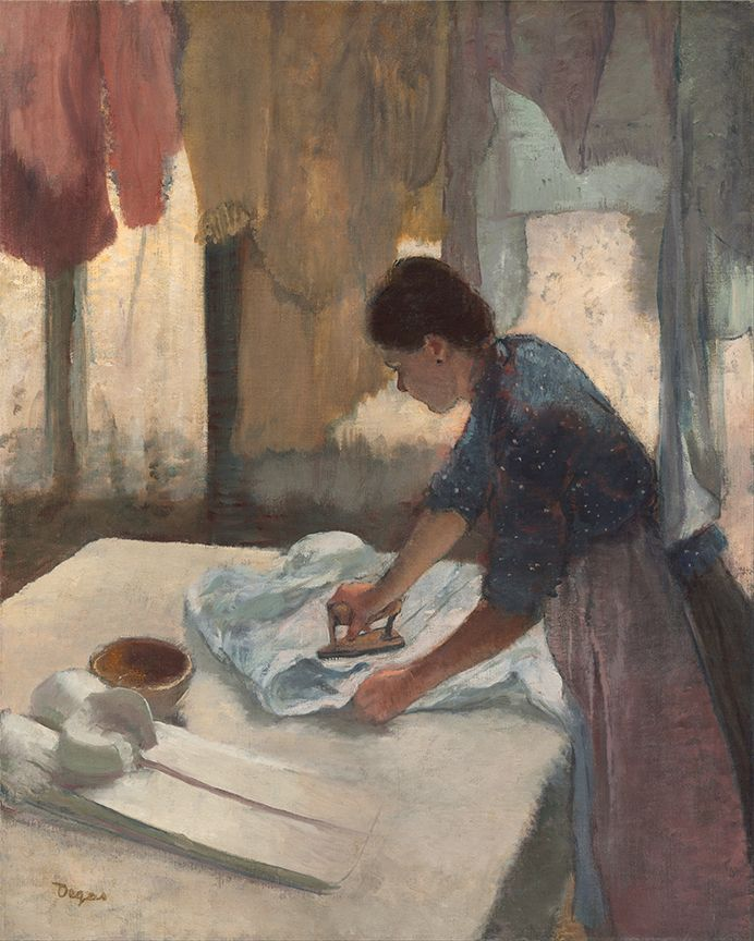 Woman #ironing by edgar #degas custom printed double-sided #flyers . #art #impressionism #flyer    http://www.zazzle.com/justimpressionism/flyers?rf=238581041916875857&tc=pin  http://www.zazzle.com/degas+flyers?rf=238581041916875857&tc=pin