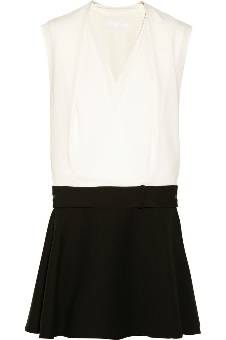 Alexander Wang Wool-blend crepe dress #monochrome #dress #white #black