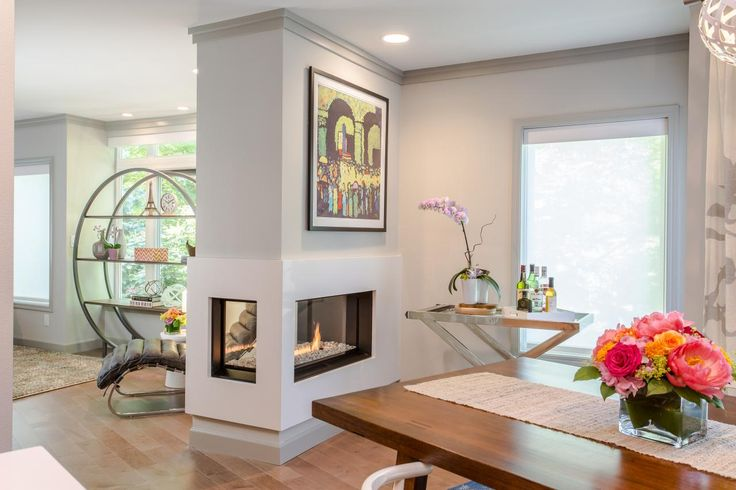double fireplace - Google Search