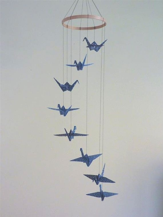 paper crane mobile This crane mobile is fairly easy to make and honestly only costs a few dollars from my first post: paper cranes have always been a favorite of mine since i first read sadako and the thousand paper cranes .