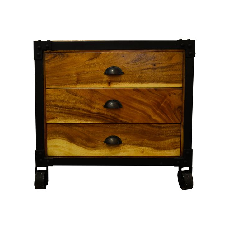 Side Cabinet - Suar. Industrial inspired Cabinet.
