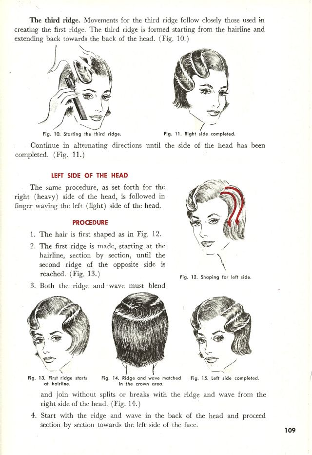 Vintage Finger Wave Instructions Tutorial http://www.thepinuppodcast.com shares this pinup pin because it is worthy!!