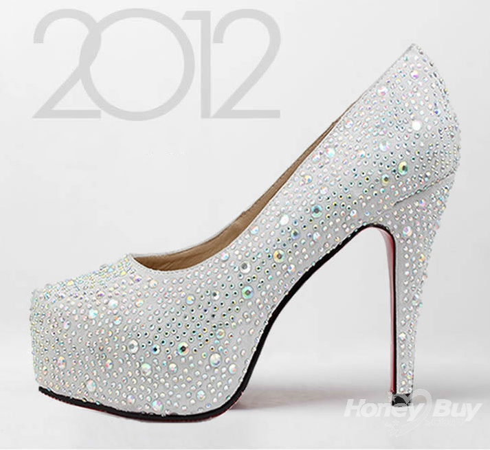 Charm Shine Fashion Unique Wedding Shoes New Arrival High Heels