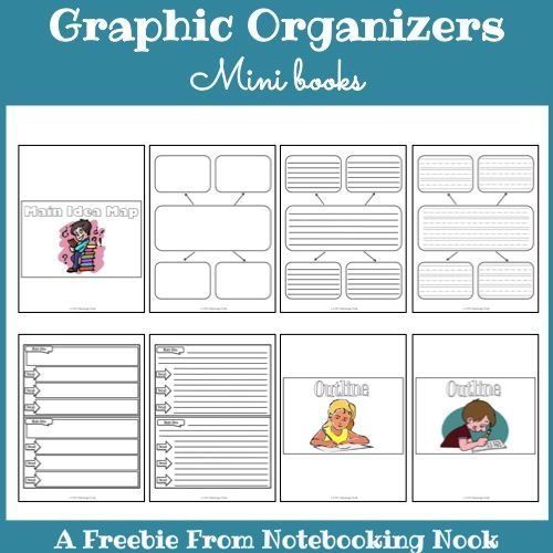 Book Jacket Graphic Organizer : Best images about notebooking nook freebies on