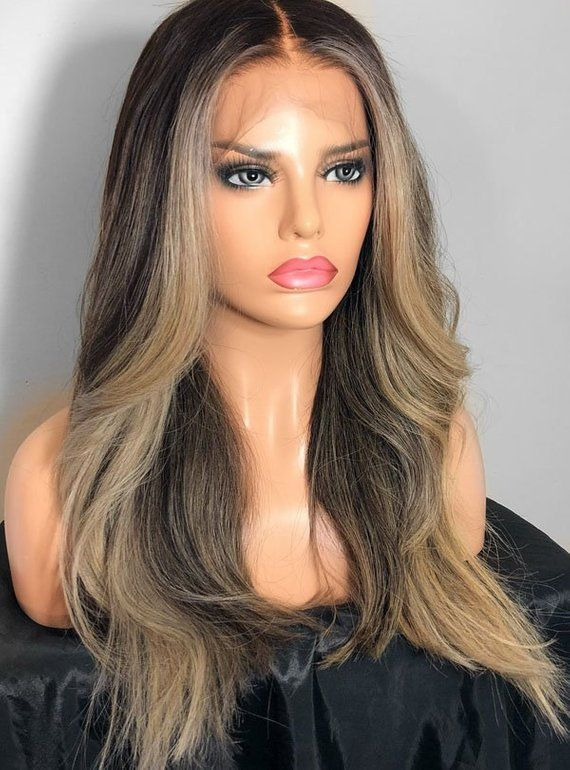130% Density Blonde Wig Full lace Wig Straight Wig Womens Wig Brazilian  Wig Human Hair Wig Wig Lace Front Wig brazilian wig f0fec9229e