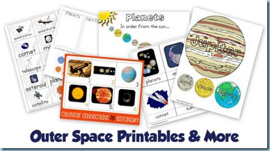 Outer Space printables pack