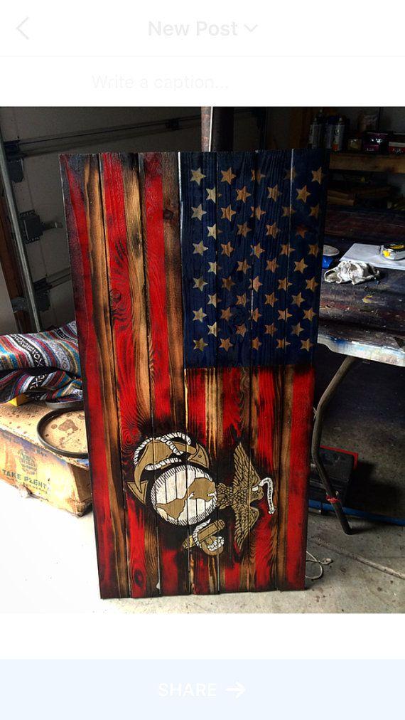 USMC American Flag Marine Flag Military Armed Forces