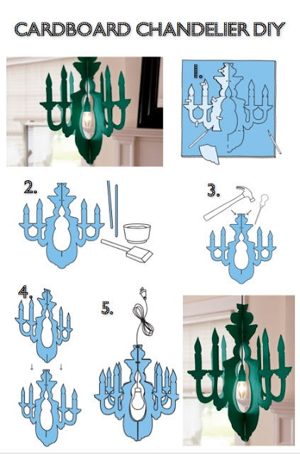 Cardboard Chandelier DIY   https://blog.etsy.com/en/2012/how-tuesday-cardboard-chandelier/?ref=fp_blog_title