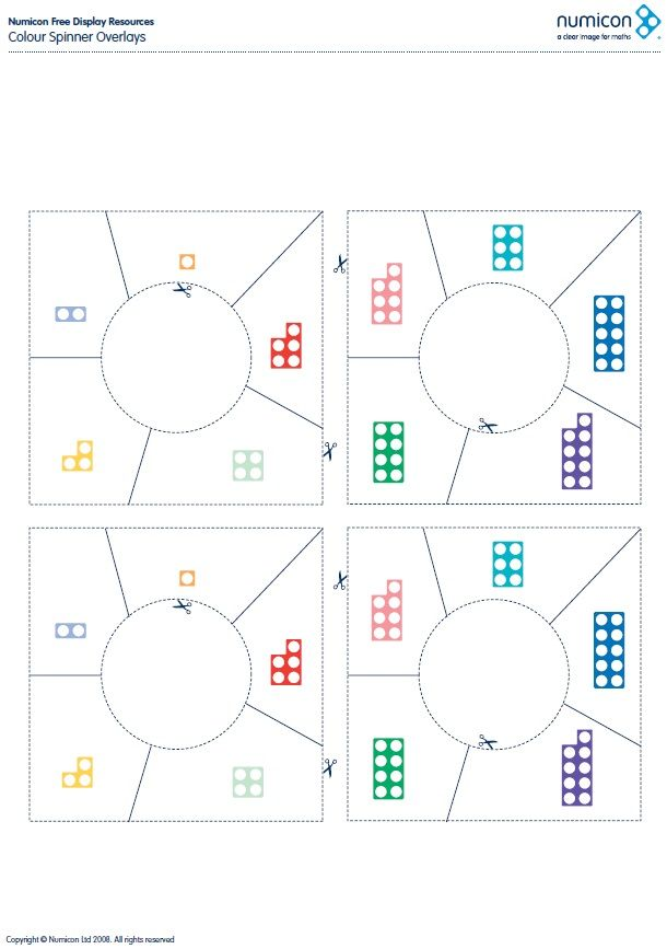 Download your printable Numicon colour spinner overlay. Find out more about Numicon at: https://global.oup.com/education/content/primary/series/numicon