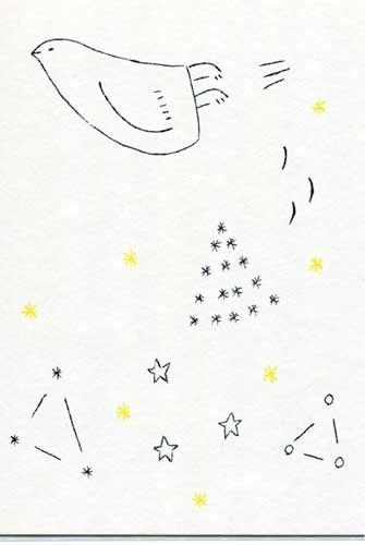 ガリ版ポストカード2枚セット 星座