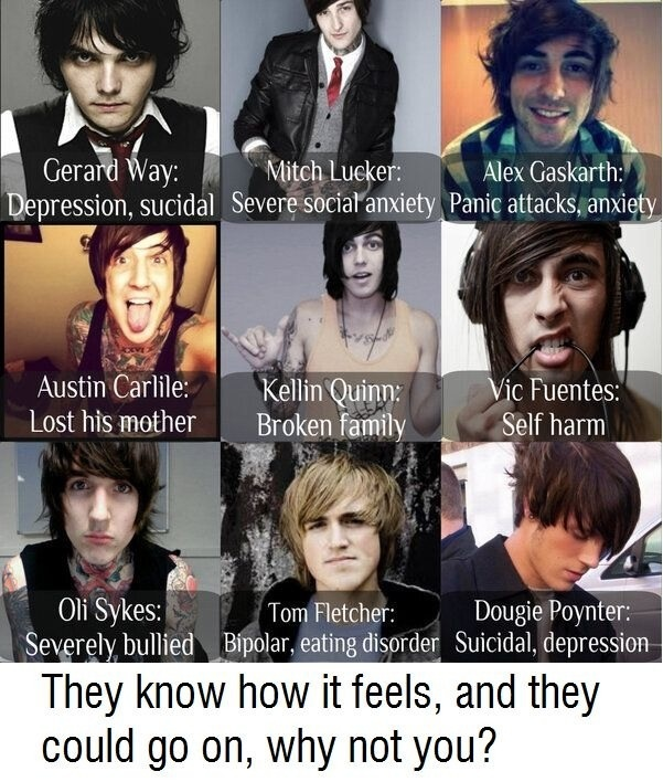 This does inspire me because I can relate to some of them