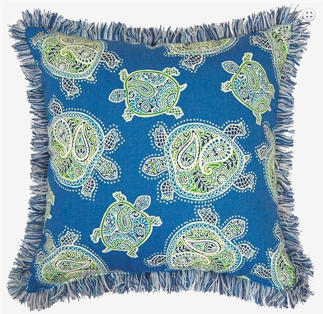 Perfecto para tu sala de estar en la playa un bello cojín azul marino  ~ Sala De Estar Azul