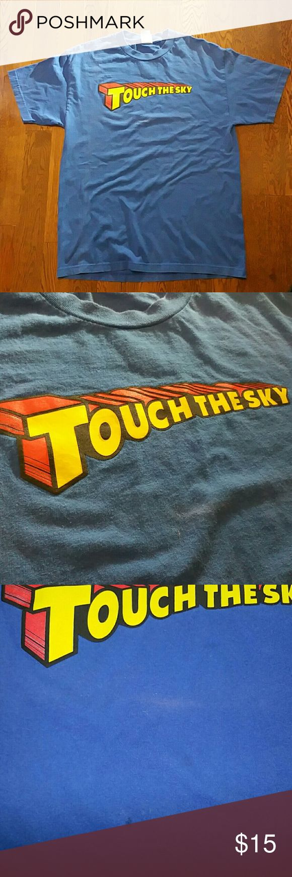 Size Large Kanye West Bear Touch the Sky T Shirt Shirt has been worn. Flaw shown in the 3rd picture. This shirt is inspired by Kanye West Album, Late Registration and from the song off the album, Touch the Sky.  air Jordan LeBron James Kobe black mamba Bryant Kyrie Irving pg1 pg2 James harden dame Damian Lillard Yeezy ultraboost ultra boost nmd guess Tommy Hilfiger Gucci Louis Vuitton supreme bape 1 2 black cement 3 4 5 6 7 8 9 adidas 10 11 12 13 Nike human race 14 15 16 17 18 19 20 21 23…