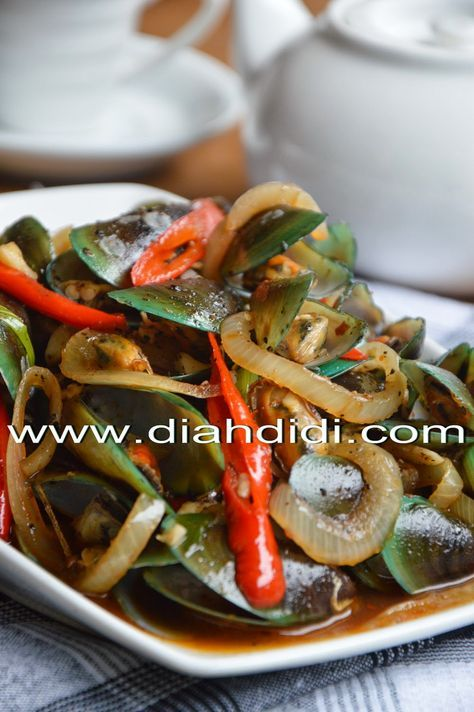 Diah Didi's Kitchen: Kerang Hijau Saus Lada Hitam