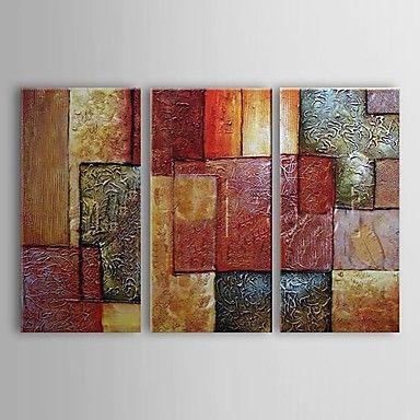 Pintados à mão pintura a óleo da paisagem abstrata Grande Conjunto de 3 de 433573 2016 por R$287,27