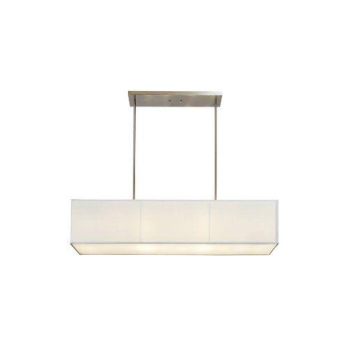 Sharper Image SI100015 Rectangular Pendant Lamp with Off White Linen Shade  Sharper Image,http: