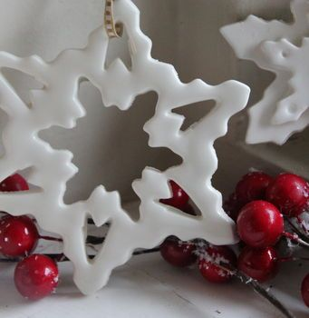 Handmade Porcelain Snowflake Decoration