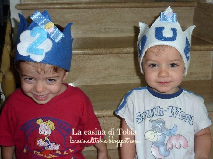 La Casina di Tobia: Coroncine baby compleanno.......2 e 4!