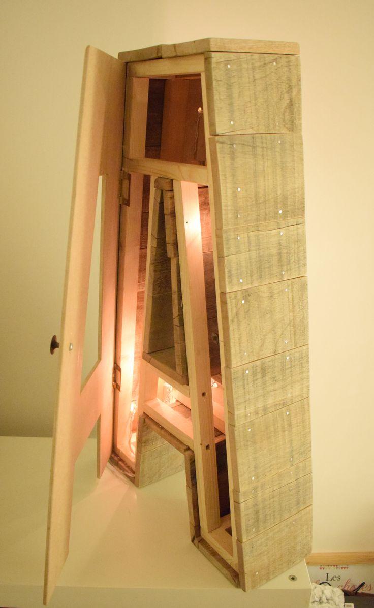 Wooden letter light - Lettre lumineuse en bois - Leds