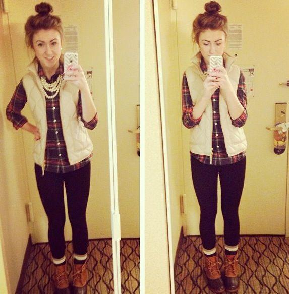 Model Fall Flannels And Bean Boots  Hannah Shanae