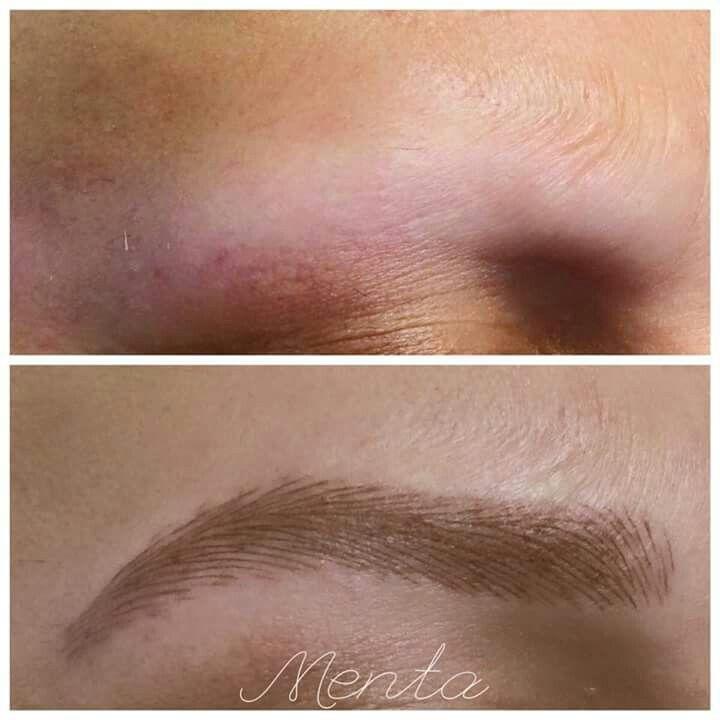 Cejas masculinas, micropigmentación