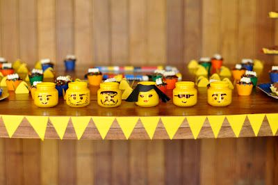 Lego head baby food jars!  I want to make so many.