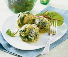 Spinat-Käse-Knödel mit gebräunter Butter Rezept - Chefkoch-Rezepte auf LECKER.de   Kochen, Backen und schnelle Gerichte