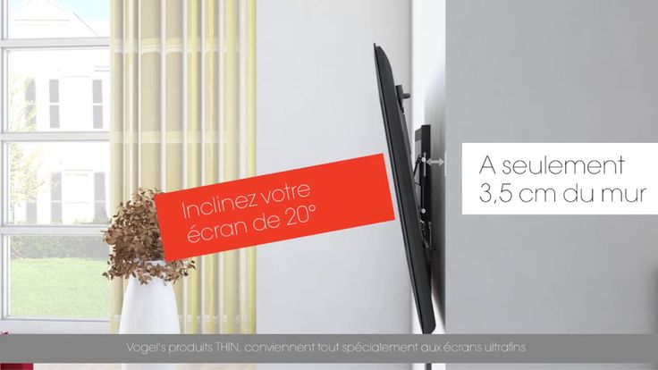 THIN 345 UltraThin Support TV Orientable (gris)