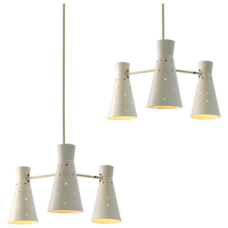 Pair of 2 Italian pendants with three lightning points | 1stdibs.com