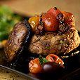 Feta Turkey Burgers with Portobello Buns and Cherry Tomato-Olive Tapenade #glutenfree