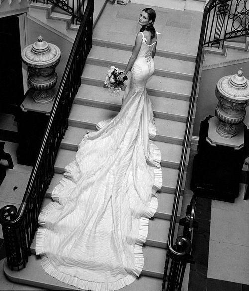 that train: Wedding Dressses, Wedding Dresses Photos, Gown Wedding, Wedding Photos, Dramatic Photograph, Angle, Amazing Photos, Wedding Bride