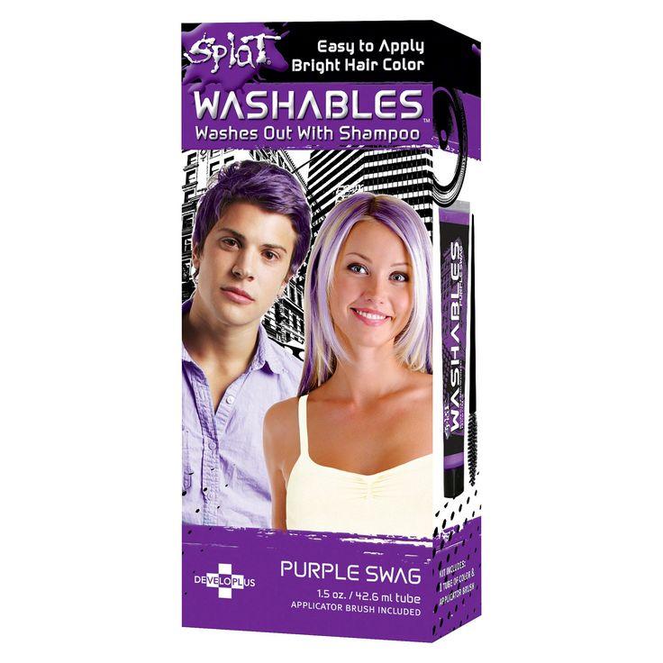Splat Washable Hair Color - Purple Swag - 1 kit