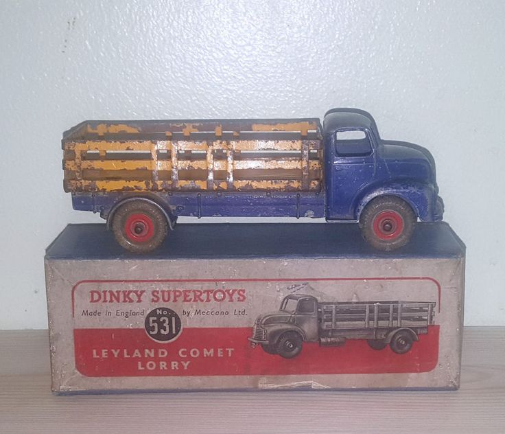 Vintage Dinky Supertoys 531 Leyland Comet Lorry & Original Box Rare Colour c1949
