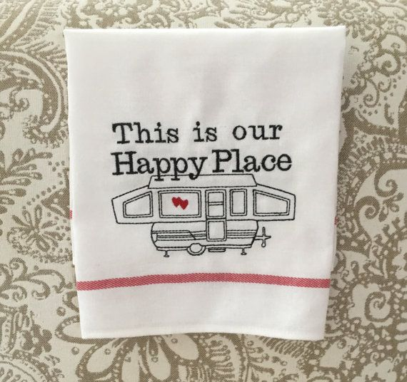 Camping Kitchen Dish Towel, Motorhome Camper RV Accessory, Travel Trailer Sign Sayings Quotes, Sweet Camper, Camping Gifts, Pop Up