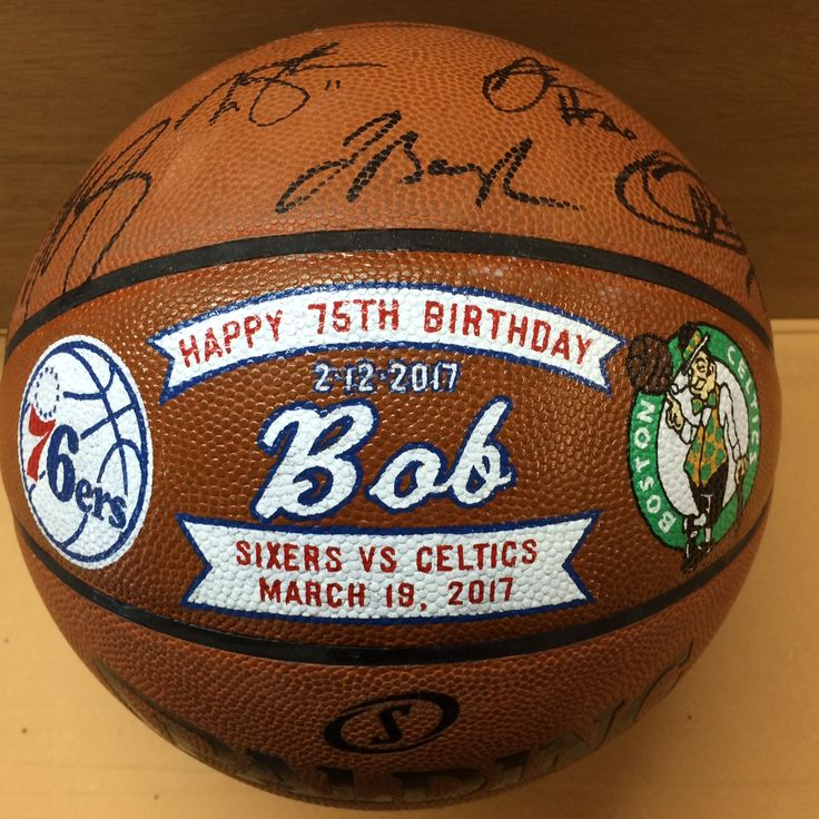 A Happy 75th Birthday wish to Bob from the Philadelphia 76ers.  Socha Signs and Custom Sports Gifts can do the same for your special someone. Custom designed, hand painted sports gifts. Visit http://sochasigns.com today for information and inspiration.