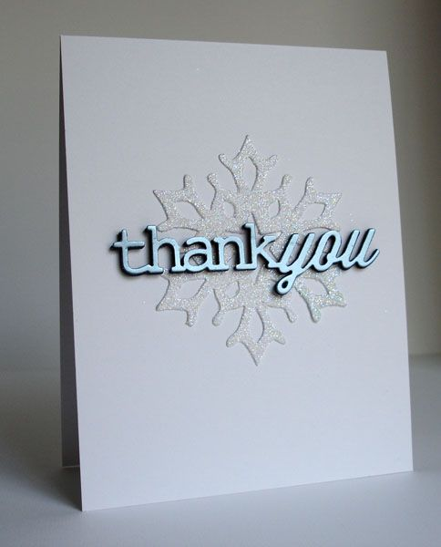 Winter Thank You by Cindy H. - Cards and Paper Crafts at Splitcoaststampers