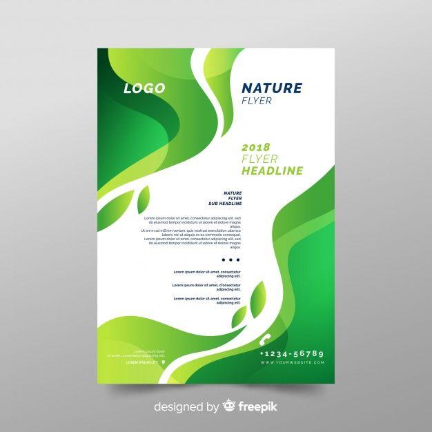 Modelo De Folheto De Natureza Com Design Moderno Bia