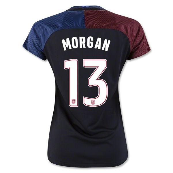 2016/17 USA Away Alex Morgan Women's 3-Star Soccer Jersey (#13)