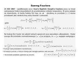 Znalezione obrazy dla zapytania Analiza Fouriera