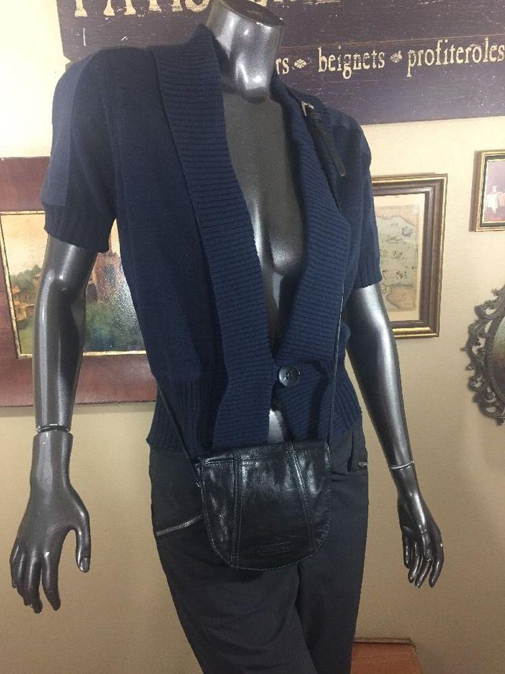 Ellington Mini Black Blue Leather Cross Body Shoulder Handbag    | eBay