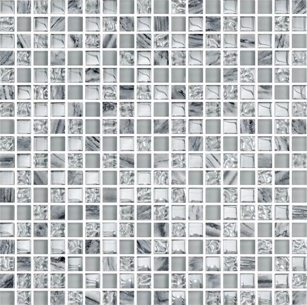 #Bricmate T - Grey Mix Stone Glam Bardigliosten blandad med glasmosaik.