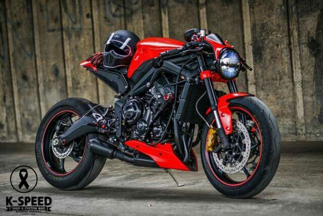 Triumph Speed Triple custom cafe Racer