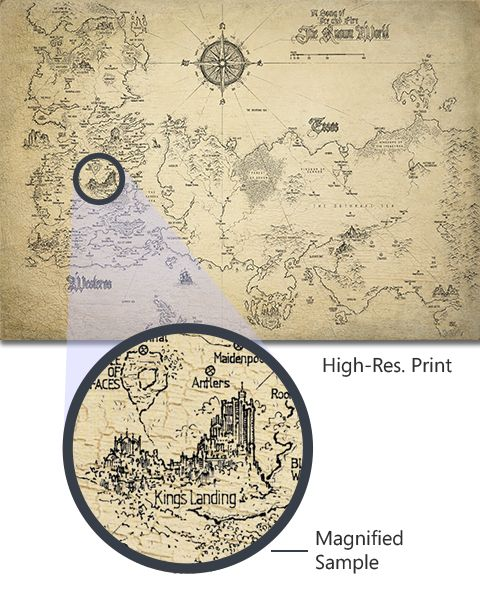 **New Limited Edition Release** The first ever meticulously hand-drawn Game of Thrones map print containing the complete known map—a must have for any fan!Clic