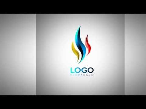 Como Diseñar un Logo Minimalista Degradado - Photoshop CS6 - YouTube