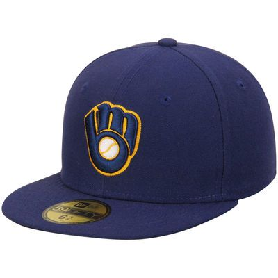 Milwaukee Brewers New Era Youth Alternate 2 Authentic Collection On-Field…