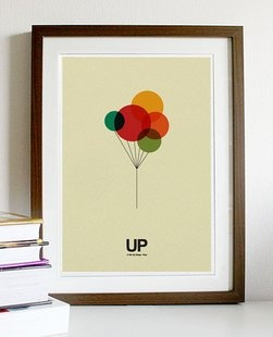 Retro poster 'Up' - love this and everything about that movie!