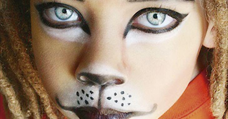 maquillaje de gato para niño - Buscar con Google